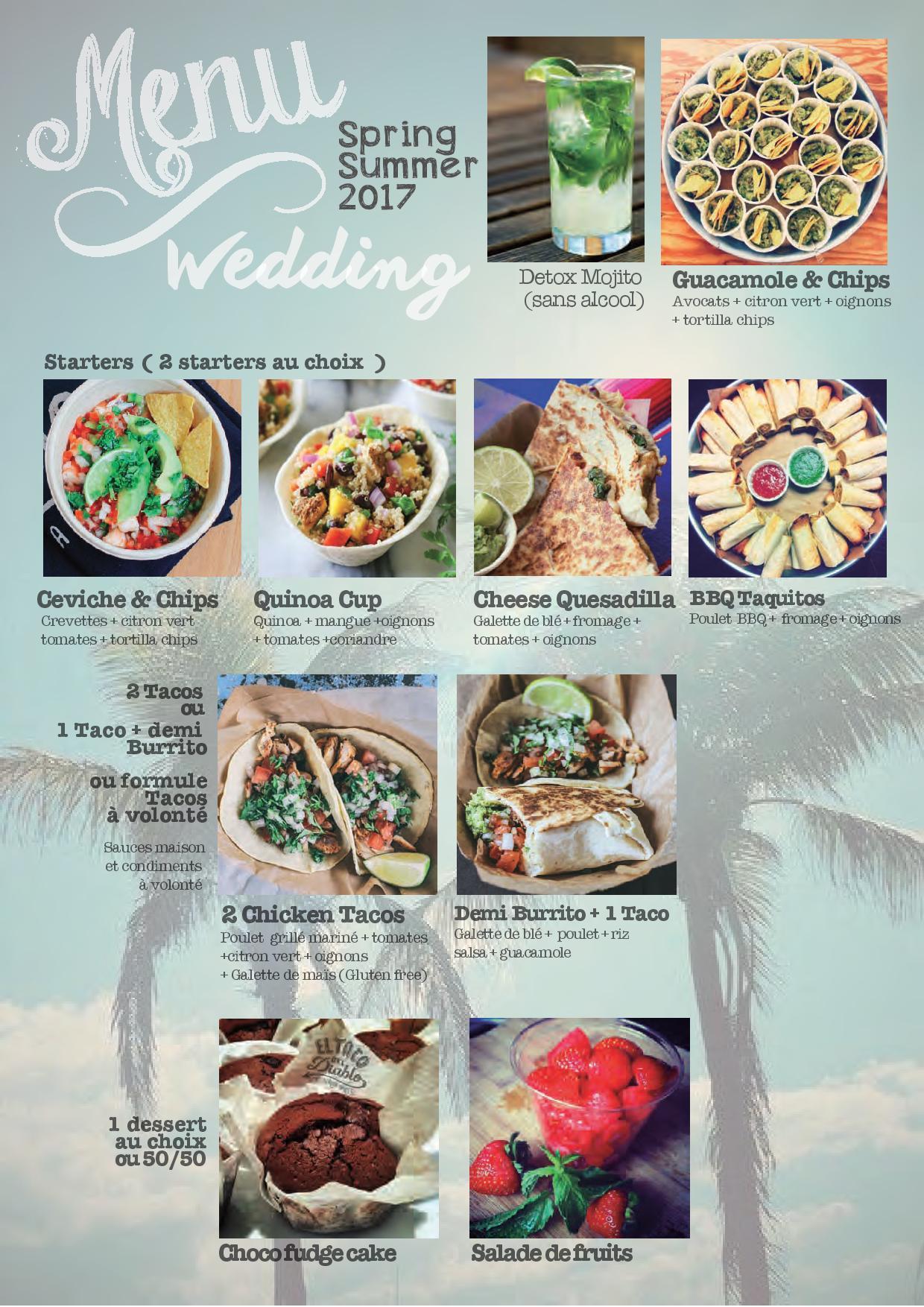 menu wedding foodtruck